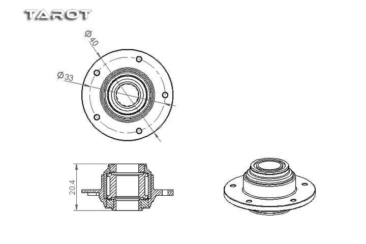Main Gear Hub with Sprag Clutch